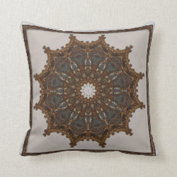 Baroque Gold Kaleidoscope Design No 02 Throw Pillow