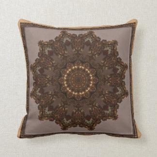 Baroque Gold Kaleidoscope Design No 03 Throw Pillow