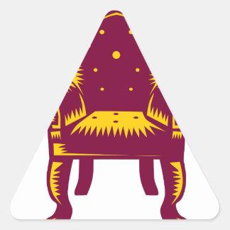 Baroque Grand Arm Chair Woodcut Triangle Sticker
