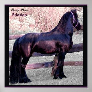 Baroque Horse Poster