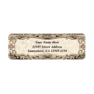 Baroque Inspired Design - Aged Stone Custom Return Address Labels