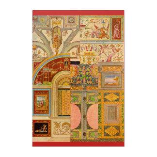 baroque Italian motifs collage Acrylic Print
