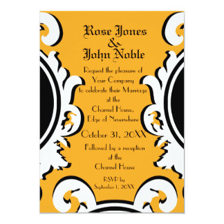 Baroque Ivory (Amber) Wedding Invitation