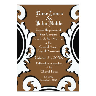 Baroque Ivory (Brown) Wedding Invitation
