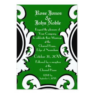 Baroque Ivory (Green) Wedding Invitation