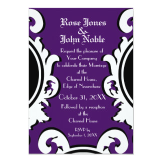 Baroque Ivory (Indigo) Wedding Invitation