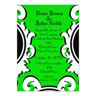 Baroque Ivory (Lime) Wedding Invitation