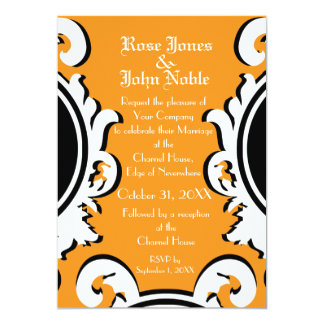 Baroque Ivory (Orange) Wedding Invitation