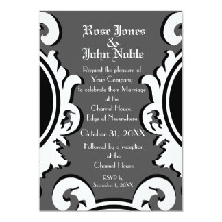 Baroque Ivory (Smoke) Wedding Invitation
