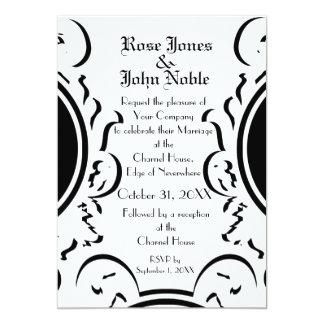 Baroque Ivory (White) Wedding Invitation