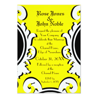 Baroque Ivory (Yellow) Wedding Invitation