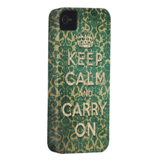 baroque keep calm and carry on iPhone 4 case