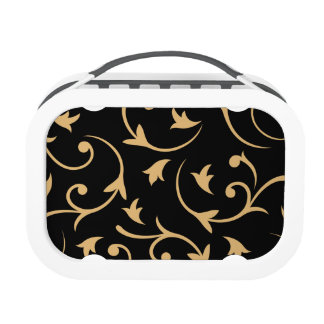 Baroque Large Design Black & Gold Replacement Plate
