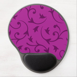 Baroque Large Design in Plums (b) Gel Mouse Pad