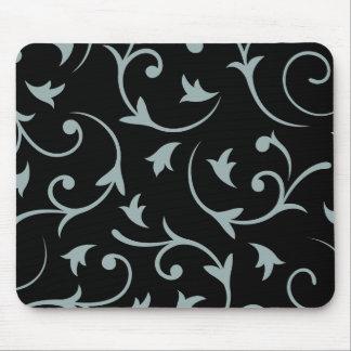 Baroque Large Design Light Teal & Black Mouse Pad