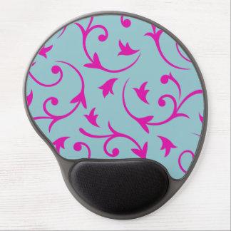 Baroque Large Design Pink & Blue Gel Mouse Pad