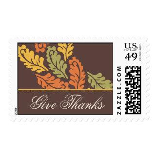 Baroque Leaf Thanksgiving Postage