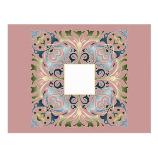Baroque Letter Blank background Post Card