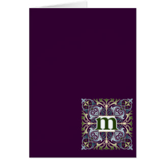 Baroque Letter M Card
