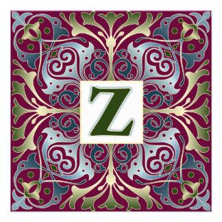 Baroque Letter Z Invitation