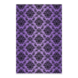Baroque Light Purple Victorian Scrapbook Paper Custom Stationery
