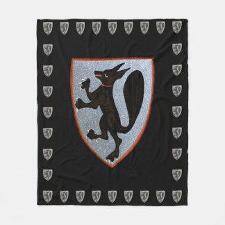 Baroque Medieval Fox Crest Fleece Blanket