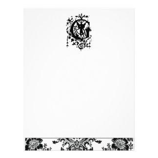 Baroque Monogram G Letterhead