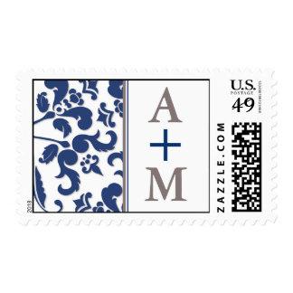 Baroque Monogram Postage Stamp