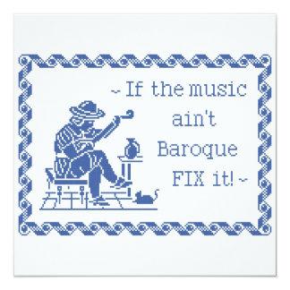 Baroque Music Motto Card