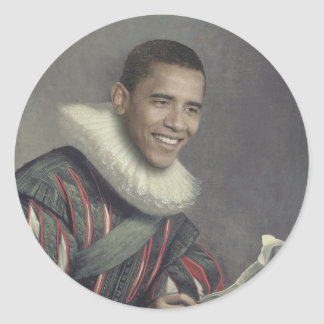 Baroque Obama Classic Round Sticker