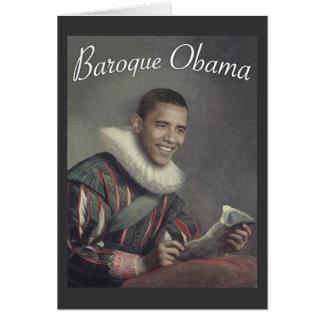 Baroque Obama Greeting Cards
