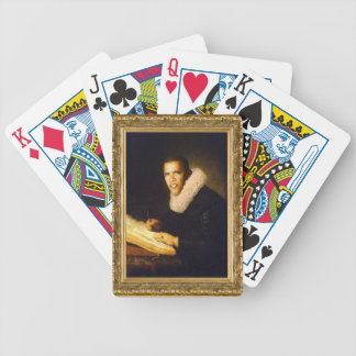 Baroque Obama in a Gold Frame. Bicycle Playing Cards