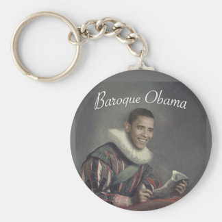 Baroque Obama Keychain