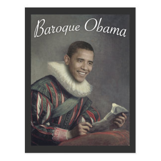 Baroque Obama Postcard