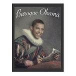 Baroque Obama Postcard