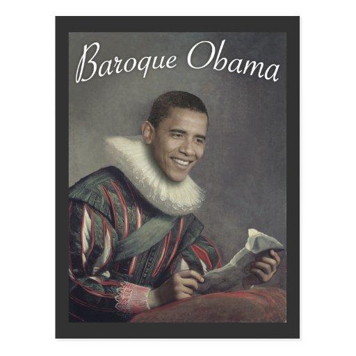 Baroque Obama Post Card