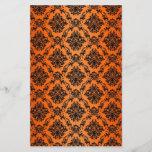 Baroque Orange Gothic Victorian Scapebook Sheet