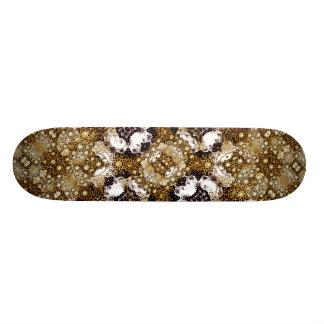 Baroque Ornament Pattern Print Skateboard Deck