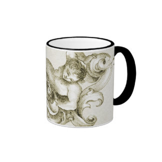 Baroque ornament ringer mug