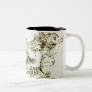 Baroque ornament Two-Tone coffee mug
