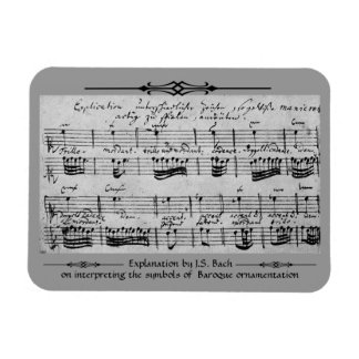 Baroque Ornamentation as Explained by Bach Magnet