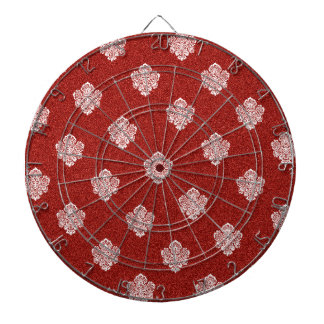 baroque, ornaments, ornamental, red, cherry, white dartboards