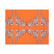 baroque pattern canvas print