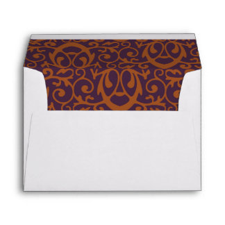 Baroque Pattern with Gold Bands 2 Envelope