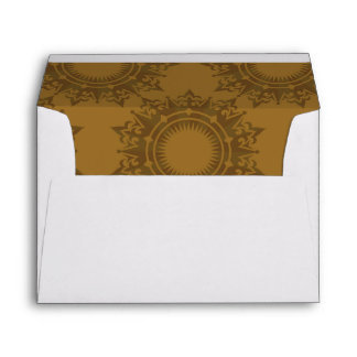 Baroque Pattern with Gold Bands 3 Envelope
