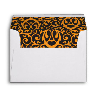 Baroque Pattern with Gold Bands Envelope