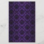 Baroque Purple Victorian Scrapbook Paper