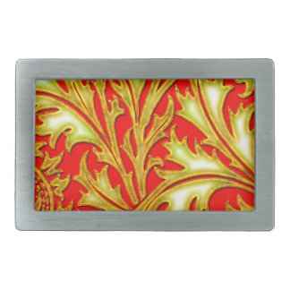Baroque Red Gold Thistle Rectangular Belt Buckles