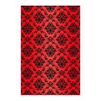 Baroque Red Victorian Scrapbook Paper Custom Stationery