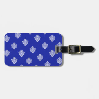 baroque, royal, blue, ornaments, pattern, texture bag tags